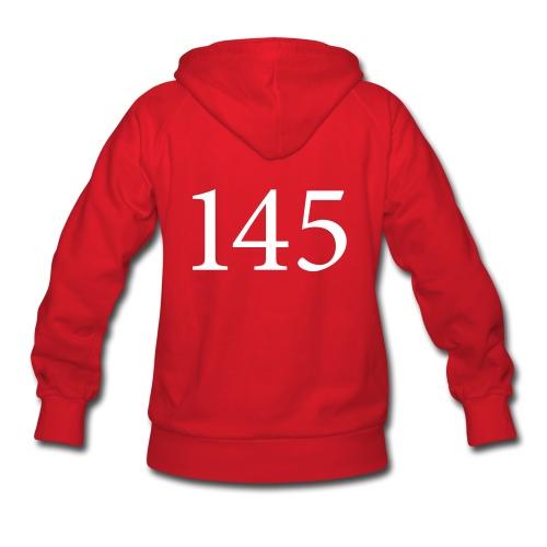 145 Women's Red Hooded Sweatshirt Design A - Women's Hoodie