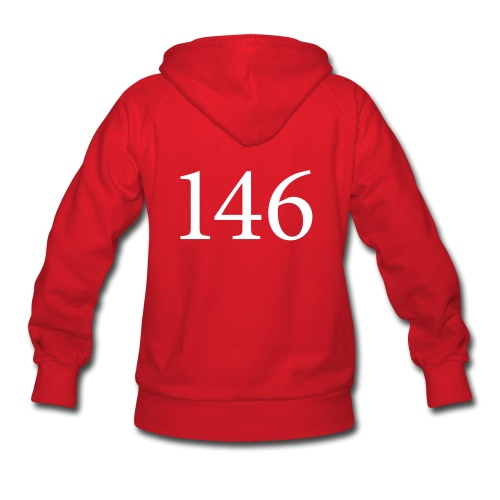 146 Women's Red Hooded Sweatshirt Design B - Women's Hoodie