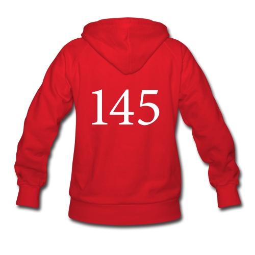 145 Women's Red Hooded Sweatshirt Design B - Women's Hoodie