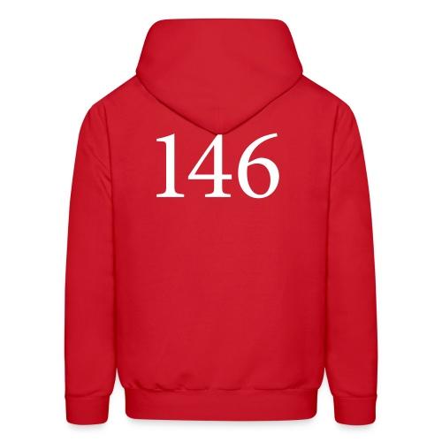 146 Men's Red Hooded Sweatshirt Design A - Men's Hoodie
