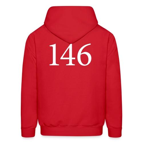 146 Men's Red Hooded Sweatshirt Design B - Men's Hoodie