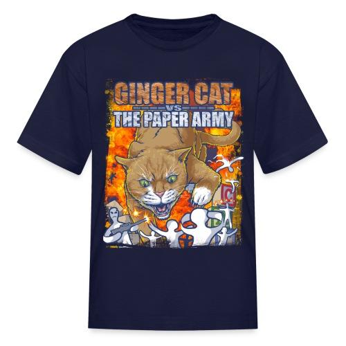Ginger Cat Vs Paper Army - Kids - Kids' T-Shirt