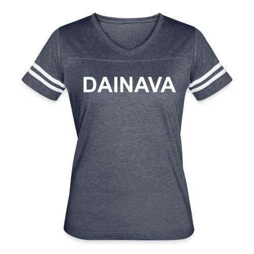 NEW! Women's Short-sleeved V-neck Baseball Tee  - Women's Vintage Sport T-Shirt
