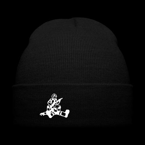 Bag Cap - Knit Cap with Cuff Print
