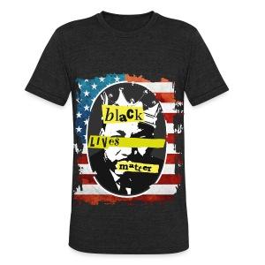 MEN'S BLACK LIVE MATTERS MARTIN LUTHER KING T-SHIRT - Unisex Tri-Blend T-Shirt