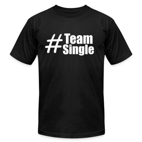 Team Single Black | #TeamSingle - Men's Fine Jersey T-Shirt
