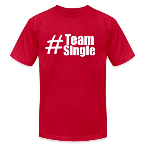 Team Single Red | #TeamSingle - Men's Fine Jersey T-Shirt