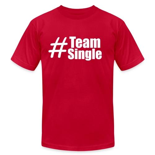 Team Single Red | #TeamSingle - Men's  Jersey T-Shirt