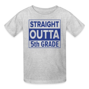KIDS Straight Outta 5th Grade ROYAL BLUE FLAT - Kids' T-Shirt