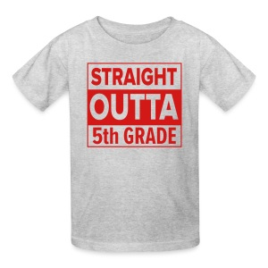 KIDS Straight Outta 5th Grade RED FLAT - Kids' T-Shirt