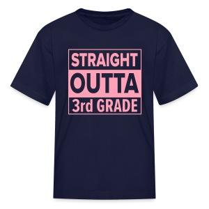 KIDS Straight Outta 3rd Grade PINK FLAT - Kids' T-Shirt