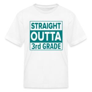 KIDS Straight Outta 3rd Grade TEAL FLAT - Kids' T-Shirt