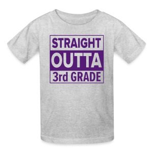 KIDS Straight Outta 3rd Grade PURPLE FLAT - Kids' T-Shirt
