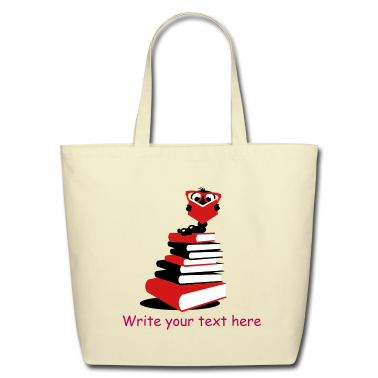 A bookworm reading Bags
