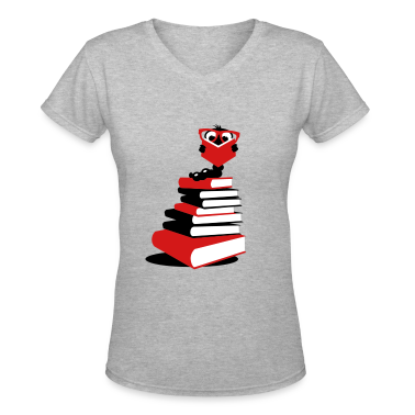 A bookworm reading Women's T-Shirts