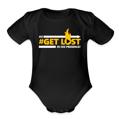 Go Get Lost (Baby Black Edition) - Organic Short Sleeve Baby Bodysuit