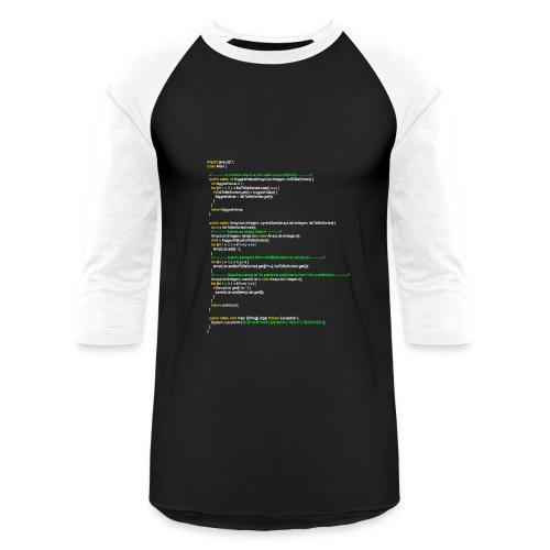 oyvindSort() Java Code   Women's Premium Tank Top - Baseball T-Shirt