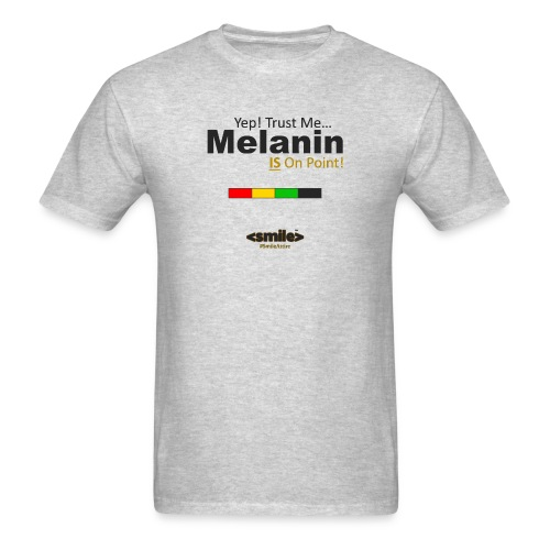 Melanin On Point - Heather Gray T-Shirt (Men) - Men's T-Shirt