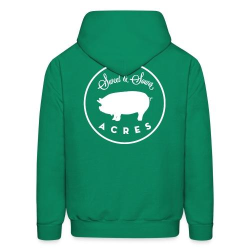 Green Unisex Lightweight Hooded Sweatshirt with Sweet & Sower Logo - Men's Hoodie