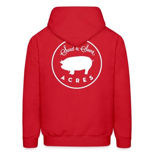 Red Unisex Lightweight Hooded Sweatshirt with Sweet & Sower Logo - Men's Hoodie