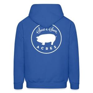 Blue Unisex Lightweight Hooded Sweatshirt with Sweet & Sower Logo - Men's Hoodie