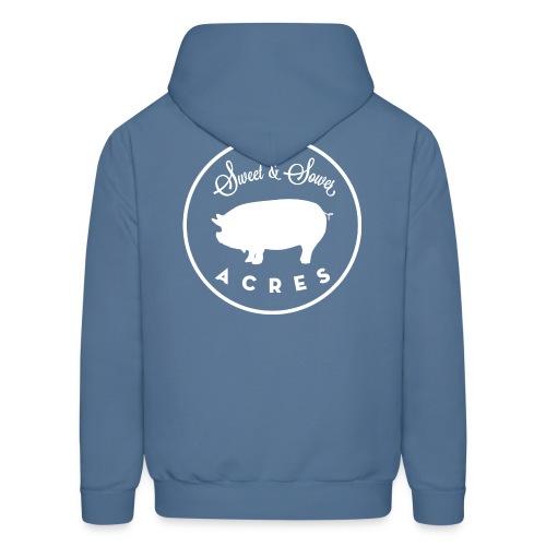 Steel Blue Unisex Lightweight Hooded Sweatshirt with Sweet & Sower Logo - Men's Hoodie