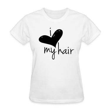 I Love My Hair Length Check T-Shirt