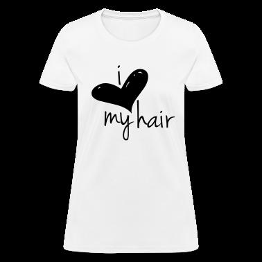 I Love My Hair Length Check T-Shirt