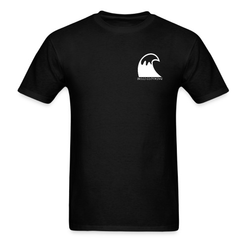 Black Staple Wave Tee - Men's T-Shirt