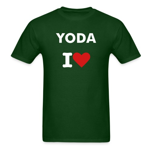 Yoda I Heart - Men's T-Shirt