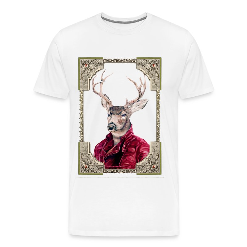 Deer Portrait - Men's Premium T-Shirt