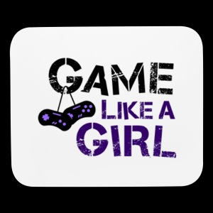 Game Like A Girl Black Logo Mouse Pad - Mouse pad Horizontal
