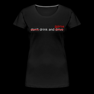 Drink and Game White Text - Women - Women's Premium T-Shirt