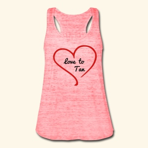 Love to Tan - Women's Flowy Tank Top by Bella
