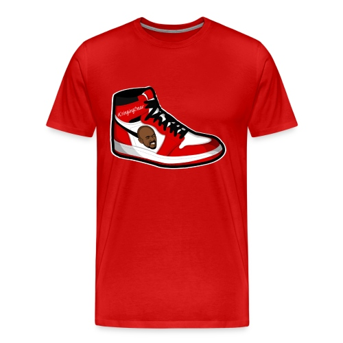 Cringing Omar TipToeing In my J's - Men's Premium T-Shirt