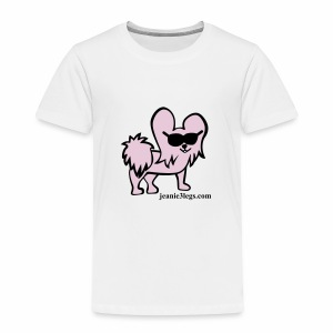 Toddler Jeanie the 3-Legged Dog (pink graphic) - Toddler Premium T-Shirt