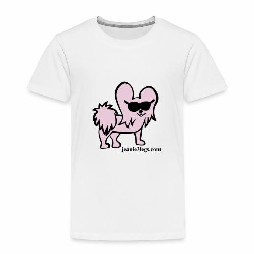 Toddler Jeanie the 3-Legged Dog (pink graphic) - Toddler Premium T-Shirt