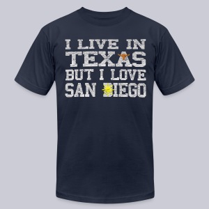 Live In Texas Love San Diego - Men's T-Shirt by American Apparel