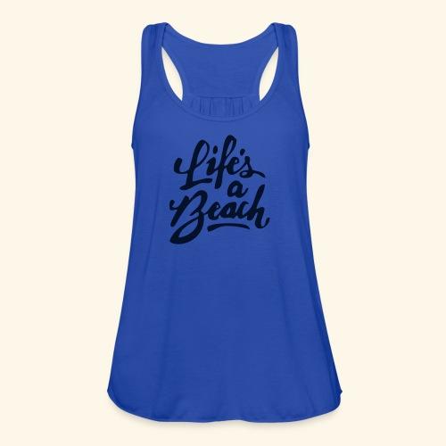 Life and Beach-Glitter - Women's Flowy Tank Top by Bella