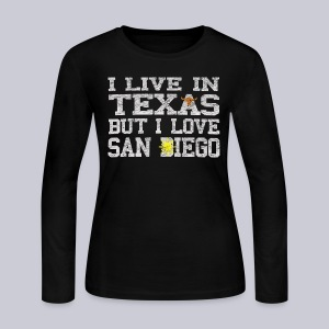 Live In Texas Love San Diego - Women's Long Sleeve Jersey T-Shirt