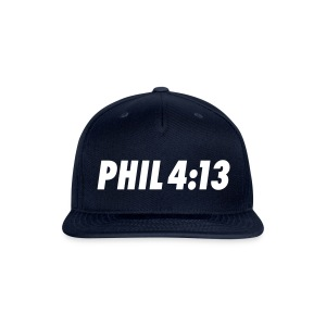 Philippians 4:13 - Snap-back Baseball Cap