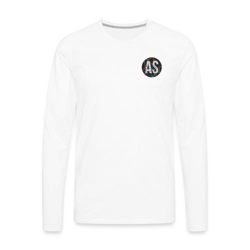AS (AvecSimon) Pastille Noir - T-shirt Premium à manches longues pour hommes