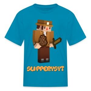 Kids Aqua SlipperySpelunky T-Shirt - Kids' T-Shirt