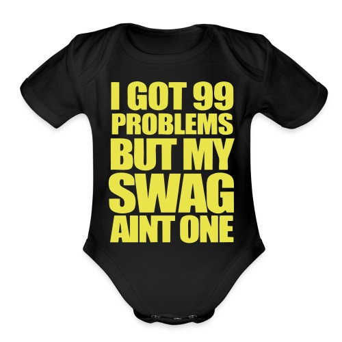 swagger university baby edition - Organic Short Sleeve Baby Bodysuit