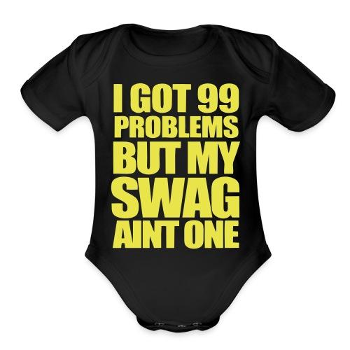 swagger university baby edition - Organic Short Sleeve Baby Bodysuit