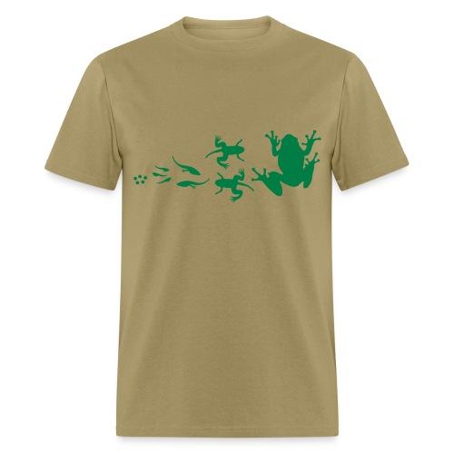 frog_evolution - Men's T-Shirt