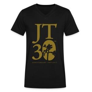 JT: Anniversary shirt (v-neck) - Men's V-Neck T-Shirt by Canvas
