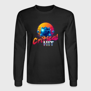 Critical Hit Dungeons & Dragons d20 - Men's Long Sleeve T-Shirt
