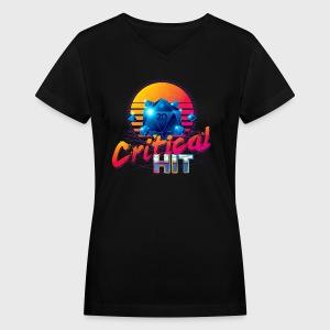 Critical Hit Dungeons & Dragons d20 - Women's V-Neck T-Shirt