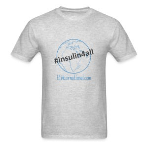 Men's #insulin4all globe tshirt - Men's T-Shirt